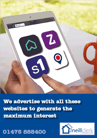 Promotional image showing all the icons of various website on which your property is advertised